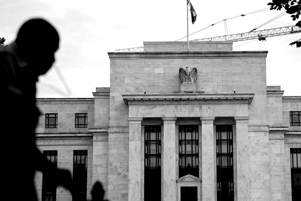 The Federal Reserve building (Andrew Harrer/Bloomberg)